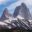 Stock Photo: Mount Fitz Roy on trekking tour from El Chalten silhouette