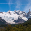 Cerro Torre from trekking road heading to the base camp — Stock fotografie