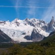 Cerro Torre from trekking road heading to the base camp — Stok fotoğraf