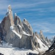 Stock Photo: Cerro Torre at perfect weather no clouds horizontal