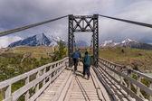 Ponte com trekking em torres del paine no chile — Foto Stock