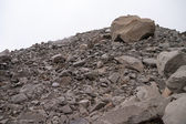 Huge pile of rocks in Torres del Paine — Stock Photo