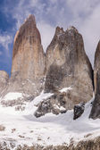 Torres del paine in Chilean National Park detail — Stockfoto
