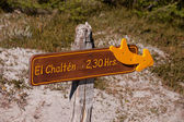 Sign El Chalten — Stock Photo