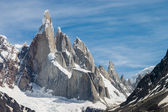 Cerro Torre at perfect weather no clouds horizontal — Stock Photo