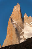 Mount Fitz Roy Detail in the evening sun — Stock Photo