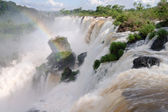 The Iguacu falls in Argentina Brazil closeup — Stock Photo