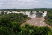 The Iguacu falls seen from the brazilian side — Stock Photo
