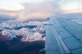 In het vliegtuig dichtbij ushuaia — Stockfoto