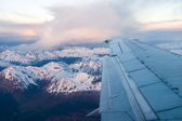 In the airplane close to Ushuaia — Stok fotoğraf