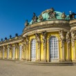 Sanssouci at crystal blue sky — Stock Photo