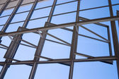 Bauhaus Dessau windows detail from inside — Stock Photo