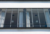 Bauhaus Dessau windows and lamps — Stock Photo