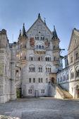 Neuschwanstein Courtyard in HDR — Stock Photo