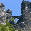 Bastei at Elbsandsteingebirge Saxony Germany — Stock Photo