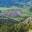 Oberstdorf from hiking trail Bavaria Germany - Stock Photo