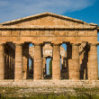 Temple at Paestum Italy frontal - Foto Stock