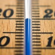 Stock Photo: Thermometer macro frontal depth of field