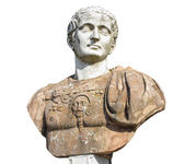 Ancient bust in Potsdam Sanssouci — Stock Photo