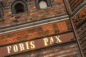Holstentor Luebeck detail FORIS PAX — Stock Photo