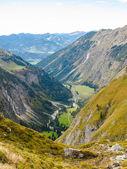 Alpine valley vertical — Stock Photo