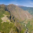 Ultra wide Panorama of Machu Picchu — Stock Photo