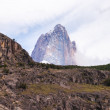 Stock Photo: Fitzroy seen from el chalten in clouds