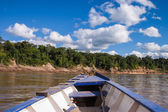 Barco no rainforrest peruana — Foto Stock