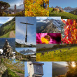 Postcard with autumn impressions of souh tyrol — Stock Photo