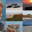 Postcard collage with spots on Helgoland North Germany — Stock Photo