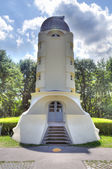 The Einstein tower in Potsdam at the science park in HDR — Stock Photo