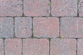 Cobbles of a street in red and grey — Stock Photo