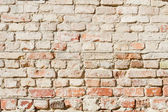 Bedraggled brick wall in dusted yellow — Stock Photo