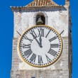 Stock Photo: Europechurch with tower and huge clock