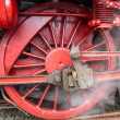 Stock Photo: Ancient wheel of locomotive