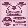 Valentine labels — Stockvectorbeeld