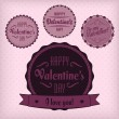 Valentine labels - Imagen vectorial