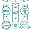 Stock Vector: Set of summer events related vintage labels