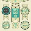 Set of summer events related vintage labels — Stock Vector