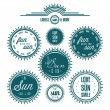 Sun related vintage label set — Stock Vector