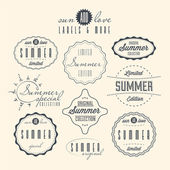 Set of summer related vintage labels — Stock Vector