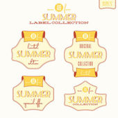 Summer label collection — Stock Vector
