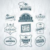 Vintage summer labels — Stock Vector
