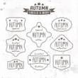 Set of autumn sales related vintage labels — Stock Vector #32076879