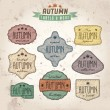 Set of autumn sales related vintage labels — Stock Vector