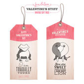 Set of Valentine's day gift tags — Stock Vector