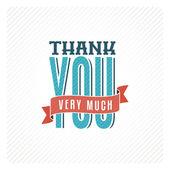 Vintage thank you card — Stock Vector