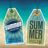 Summer Hang Tags — Stock Vector