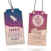 Summer Sales Hang Tags — Stock Vector