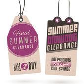 Etiquetas de la caída de las ventas de verano — Vector de stock